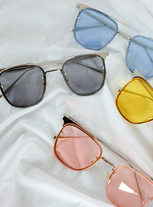 4color trapezoid sunglass